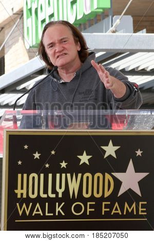 LOS ANGELES - MAY 4:  Quentin Tarantino at the Kurt Russell and Goldie Hawn Star Ceremony on the Hollywood Walk of Fame on May 4, 2017 in Los Angeles, CA