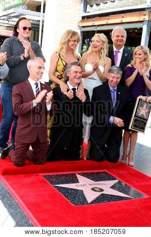 LOS ANGELES - MAY 4:  Goldie Hawn and Kurt Russell and friends at the Kurt Russell and Goldie Hawn Star Ceremony on the Hollywood Walk of Fame on May 4, 2017 in Los Angeles, CA