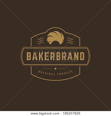 Bakery Shop Logo Template. Vector object and Icons for Pastry Food Label or Badge, Bakery Food Logotype Design, Emblems Graphics.