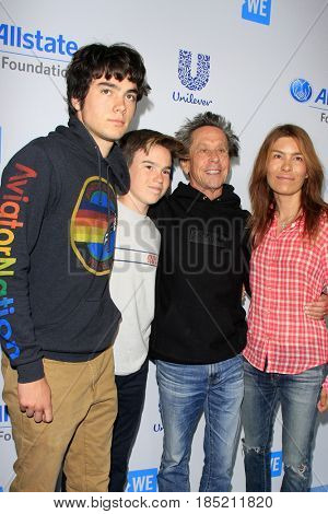 LOS ANGELES - APR 27:  Patrick Grazer, Thomas Grazer, Brian Grazer, Veronica Smiley at the We Day California 2017 at The Forum on April 27, 2017 in Inglewood, CA