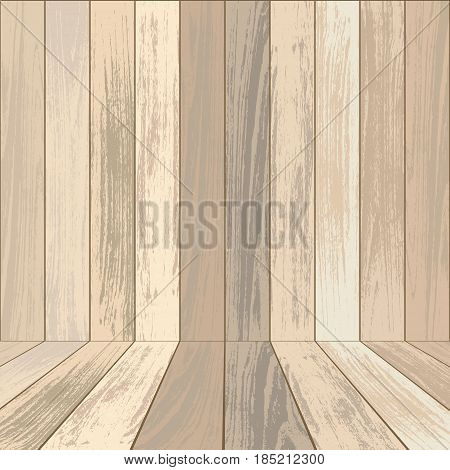 Background with laminated wall and floor with parquet