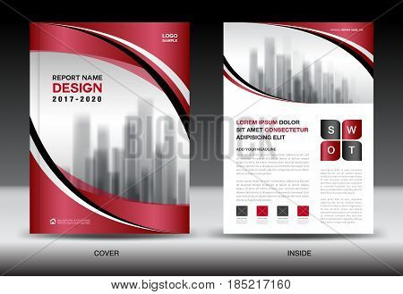 Business Brochure flyer templater Red cover design annual report Book Magazine ads company Profile layout in A4 size poster catalog leaflet newsletter Advertisement presentation infographics poster