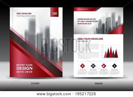 Business Brochure flyer templater red cover design annual report Book Magazine ads company Profile layout in A4 size poster catalog leaflet newsletter Advertisement presentation infographics