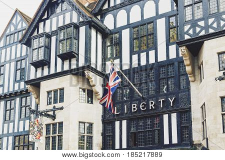 Architectural Details Of The Liberty Department Store In Great Marlborough Street In London