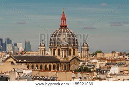Church of St. Augustine (Eglise Saint-Augustin de Paris 1868). France.