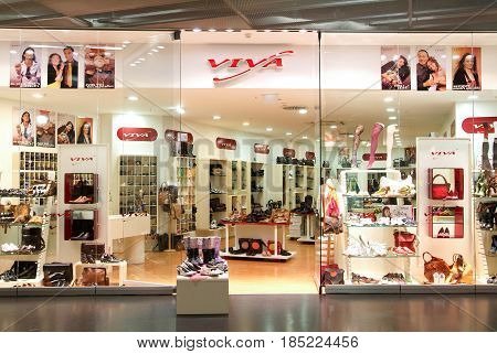 Interior Of Viva Fashion Shoes Store