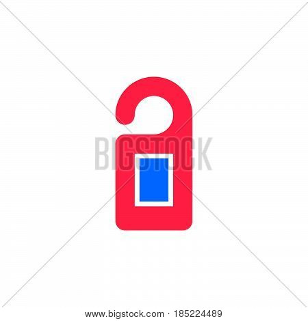 Door Hanger Icon Vector, Filled Flat Sign, Solid Colorful Pictogram Isolated On White, Logo Illustra