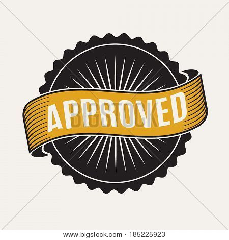 approved stamp sign.Vector symbol for quality products