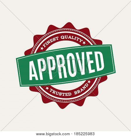 round approved stamp.Vector symbol for quality products