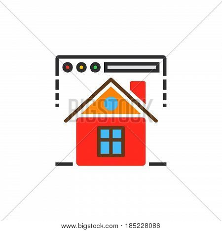 Homepage Symbol. Web Browser And Home Icon Vector, Filled Flat Sign, Solid Colorful Pictogram Isolat