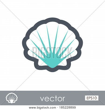 Seashell outline vector icon. Beach. Summer. Summertime. Vacation eps 10