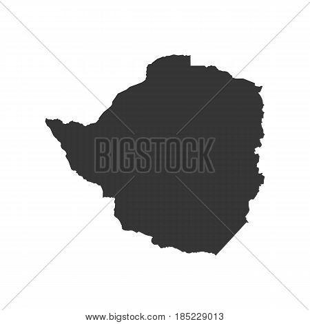 Zimbabwe map on the white background. Vector illustration