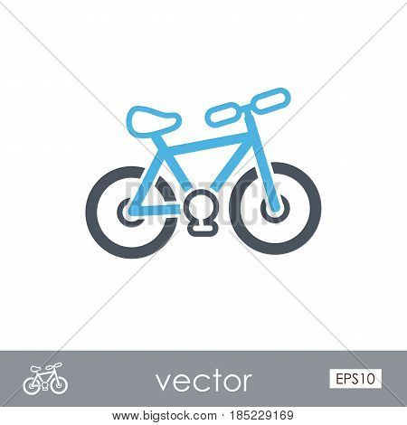 Bicycle outline vector icon. Beach. Summer. Summertime. Vacation eps 10