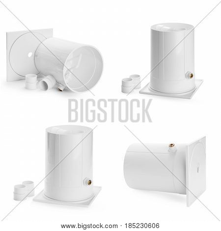 Plumber tubes for water isolated on a white background