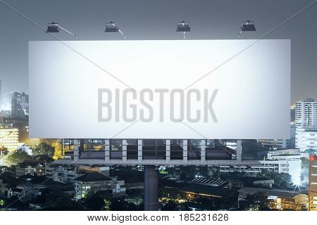 Bill Board On Night City Background Front