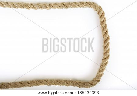 Old Rope frame on a shite background