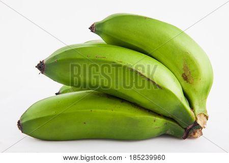 Type of banana called guineo or bocadillo (Musa acuminata) isolated in white background