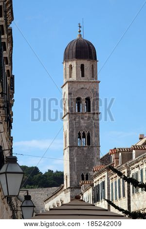 DUBROVNIK, CROATIA - NOVEMBER 07: Franciscan church in Dubrovnik, Croatia, on November 07, 2016.