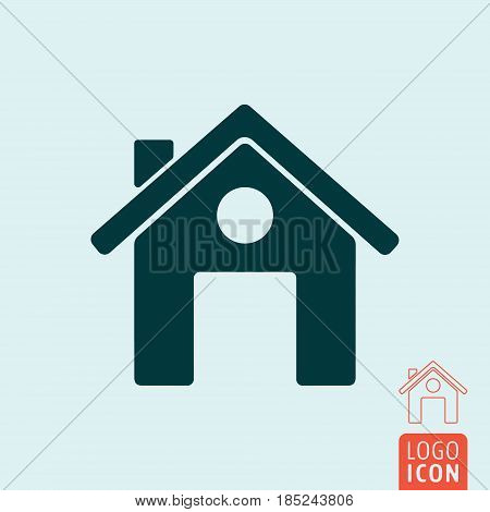 Home icon. Small house. Real estate symbol. Vector illustration