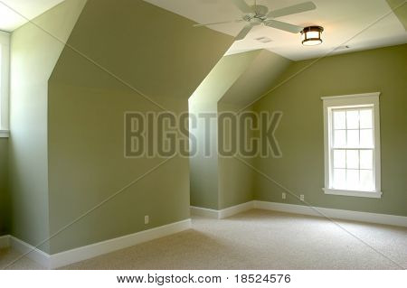 empty upstairs bedroom, place your own furniture