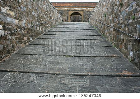 Entrance to the Forte di Belvedere in Florence Tuscany Italy
