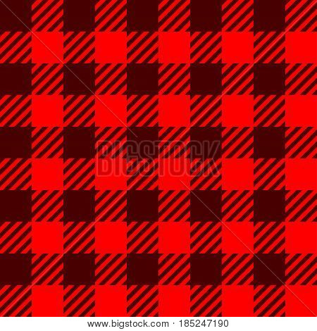 illustration of red square lumber textile seamless background