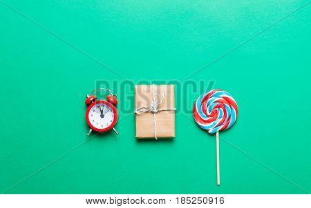 Lollipop, Alarm Clock And Gift
