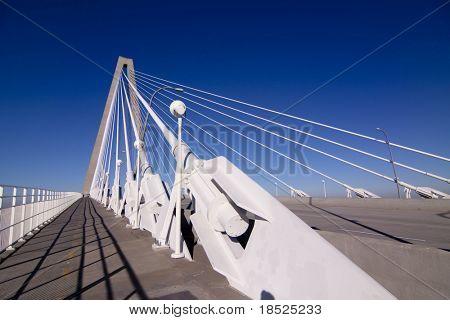 empty ravenel suspension bridge in Charleston SC