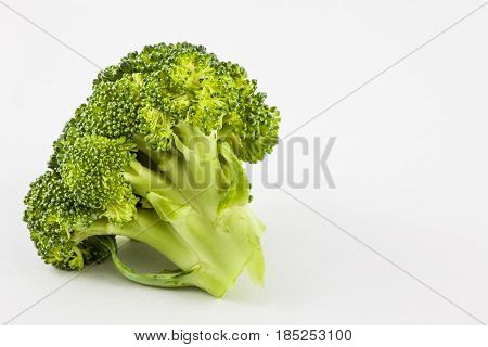 Broccoli (Brassica oleracea) isolated in white background
