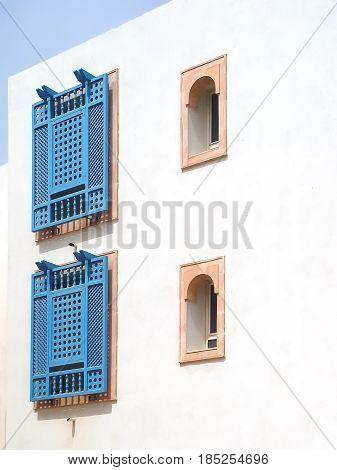 Beautiful windows in the small town of Sidi Bou Said. Tunisia