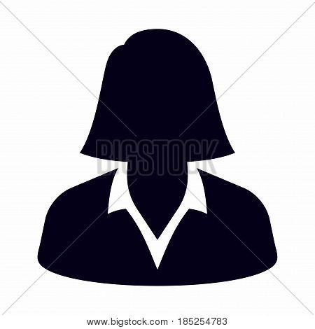 Businesswoman. Vector icon isolated on white background.