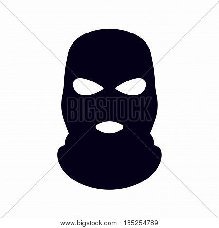 Bandit mask. Vector icon isolated on white background.