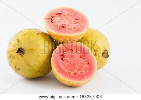 Guava (Psidium guajava) isolated in white background
