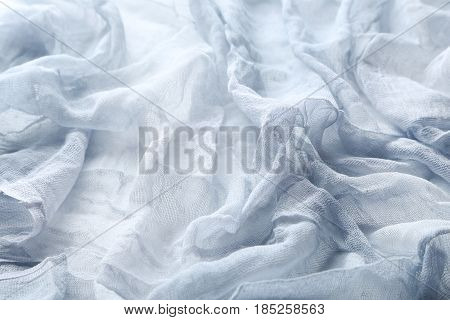 The Grey gauze fabric background, close up