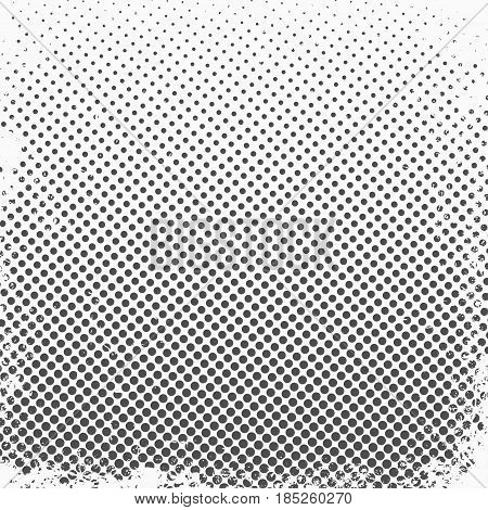 Halftone dots. Monochrome vector texture background for prepress DTP comics poster. Pop art style template
