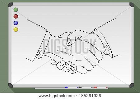 Whiteboard Icon Handshake
