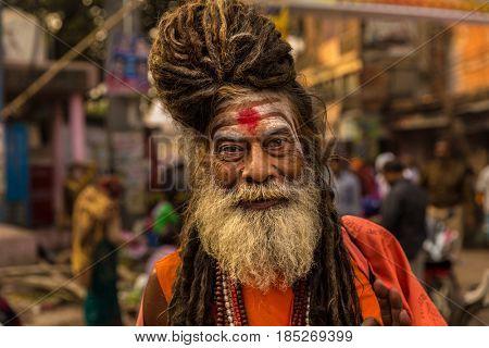 Sadhu Baba Nondo Somendrah, Varanasi, India