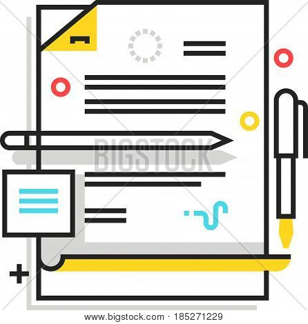Color Box Paperwork Icon, Background And Graphics