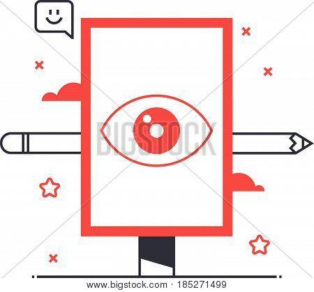 Multi Tone Icon, Billboard Background And Graphic