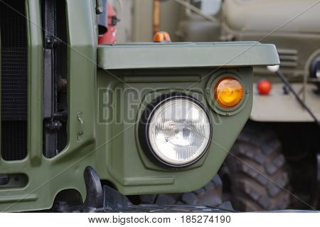 Front detail of military vehicles