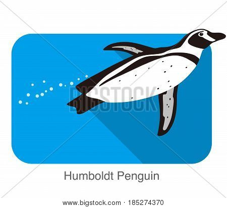 Humboldt Penguin, Penguin Seed Series, Vector Illustration