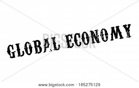 Global Economy rubber stamp. Grunge design with dust scratches. Effects can be easily removed for a clean, crisp look. Color is easily changed.