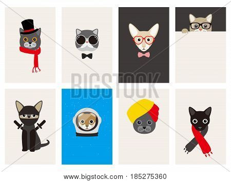 Hipster, Portrait Of Cat, Gentlemen Cat
