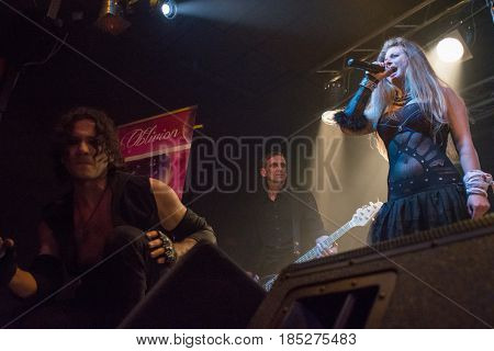 Cremona Italy. 6st May 2017. groove electronic metal band JTR Sickert performs at Midian Live. Brambilla Simone Photography Live News