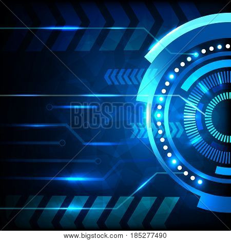 Blue abstract hi-tech background vector design .