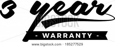 3 year warranty icon vintage rubber stamp guarantee poster