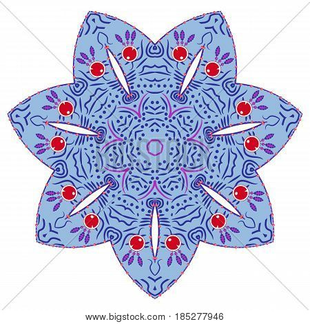 Flower Mandalas. Vintage decorative elements. Oriental pattern, vector illustration. Hand drawn background. Islam, Arabic, Indian ottoman motifs
