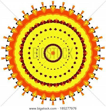 Flower Mandalas. Vintage decorative elements. Oriental pattern, vector illustration. Hand drawn background. Islam, Arabic, Indian ottoman motifs