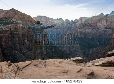 Feel the Canyon Breeze with copy space