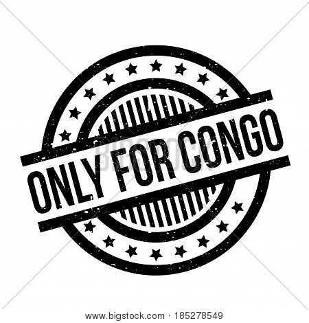 Only For Congo rubber stamp. Grunge design with dust scratches. Effects can be easily removed for a clean, crisp look. Color is easily changed.